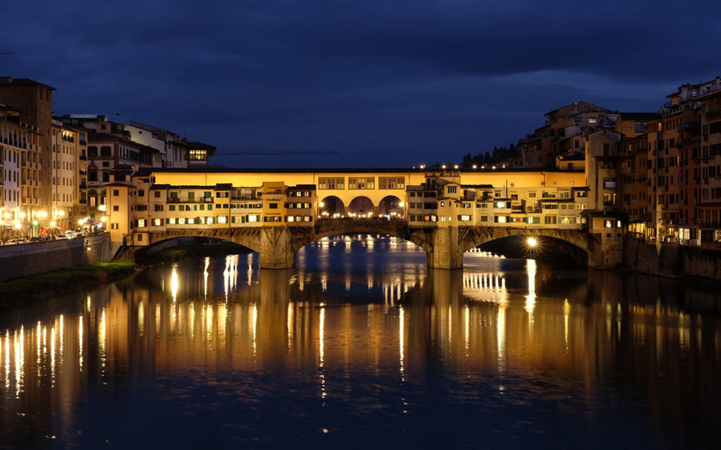 The Ponte Vecchio is one of the most famous Italian landmarks.