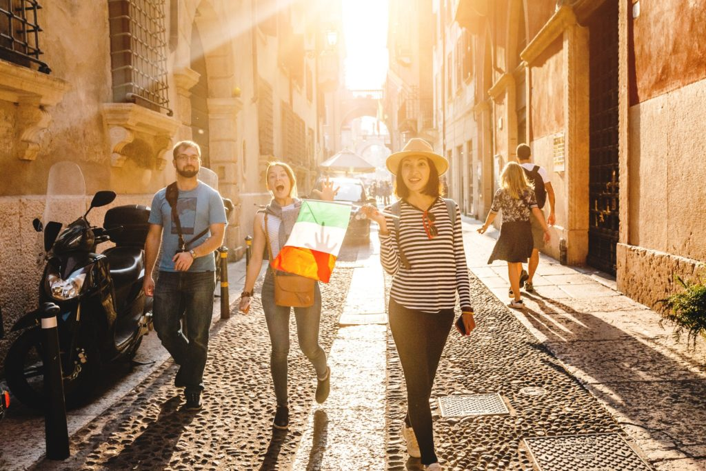 Walking is the best way to see Rome.